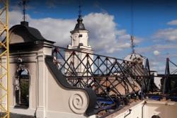 Появилось видео восстановления костела в Будславе